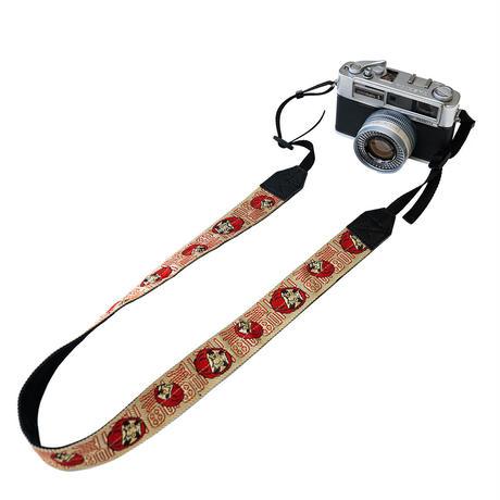畳縁カメラストラップ(Daruma)