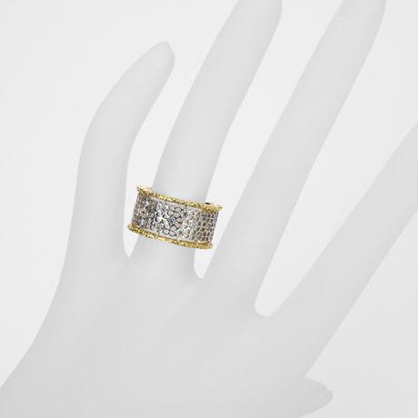 K18 ダイヤモンド LACEリング