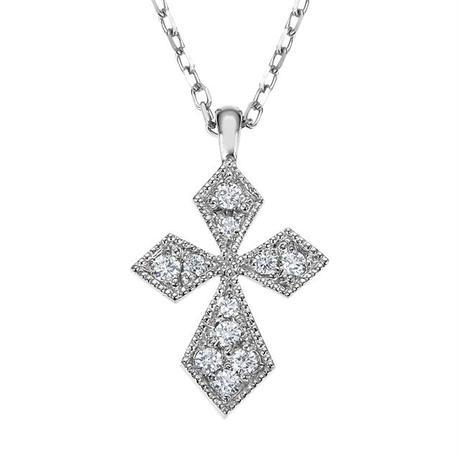 PT ダイヤモンド ミルクロスネックレス