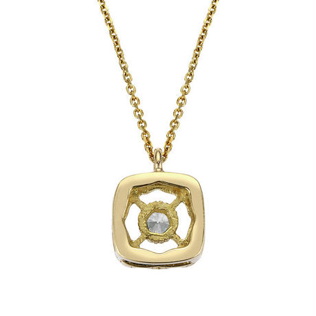 K18YG ダイヤモンド スクエアカーブネックレス