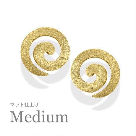 K18 UZUMAKI ピアス Medium【マット仕上げ】