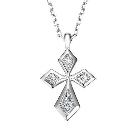 PT ダイヤモンド クロスネックレス