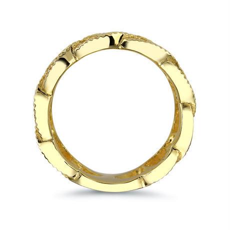 シルバー バスケットリング ゴールドカラー