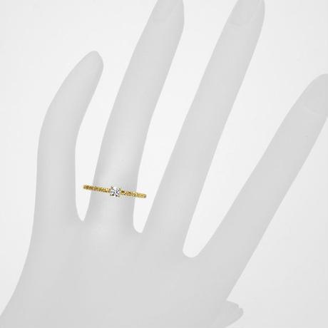 K18 ダイヤモンド オンダーリング 0.1ct〜