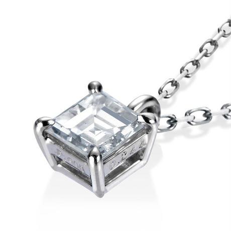 PT スクエアカット ダイヤモンド ネックレス
