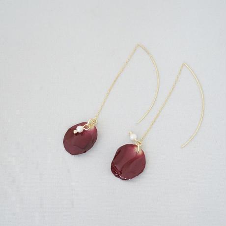 花びらアメリカンピアス(red02)