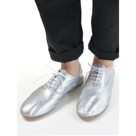 minan polku ミナンポルク soft balmoral shoes Glitter cloth レディース