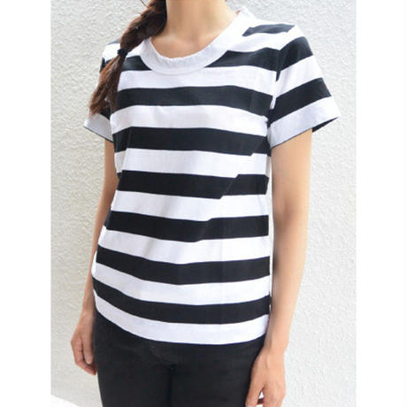 LAITERIE(レイトリー)ふわふわ天竺半袖Tシャツ ボーダー PCT-20A