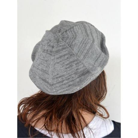 meri ja kuu(メリヤクー)大地の柱 コットンベレー帽  UNISEX 【GRAY】