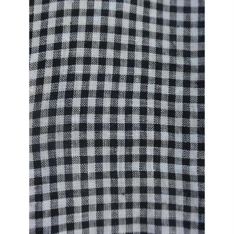 fog linen work クロード ワンピース ブラックホワイトチェック