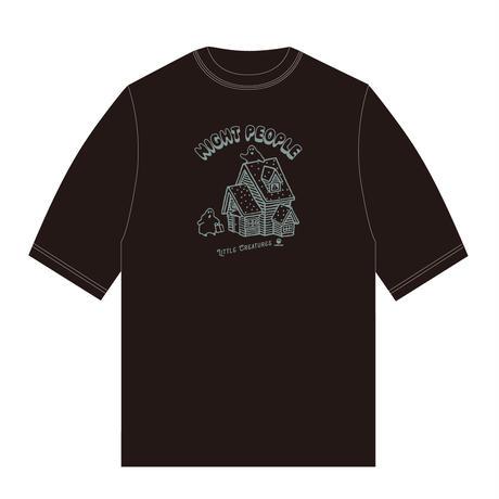 N.P.-Tシャツ(ビッグシルエット/ブラック)
