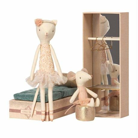 Maileg Ballerina Cat and Mouse Shoebox Play Set バレリーナ・キャット&マウス