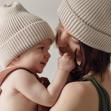 MILLE baby   MERINO 'EVERYDAY' BEANIE / MILK