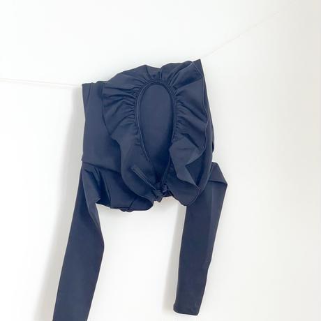 Casa blue swim / PALMA SWIMSUIT・BLACK