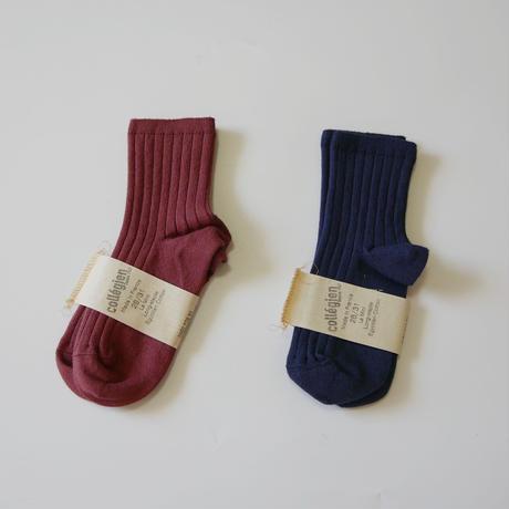 Collegien  /   Rib  Ankle Socks    La Mini  ・Châtaigne