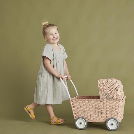 Olli Ella STROLLEY  PINK * 車輪付きバスケット ピンク
