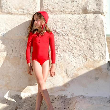 Casa blue swim /  PALMA SWIMSUIT・CHERRY RED