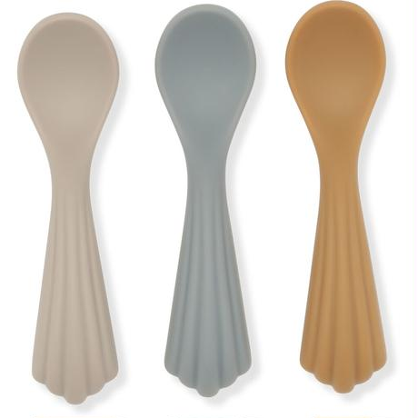 Konges Sloejd  3 PACK SPOONS SILICONE *WARM GREY