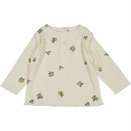 STUDIO BOHEME PARIS   T-SHIRT LALA *  Quince/Off white・  6M-24M