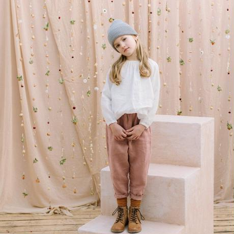 Nellie Quats・ Mother May I Blouse - Milk Polka Dot Linen : 5-6Y・ 7-8Y