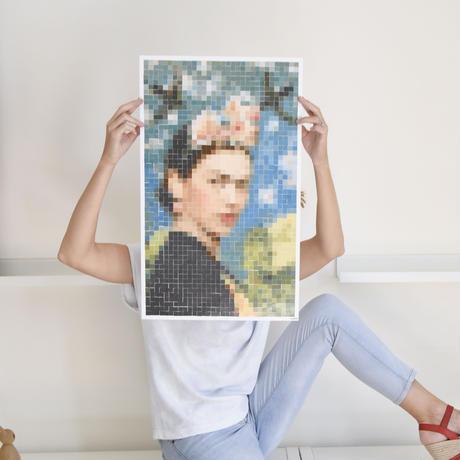 FRIDA KAHLO 肖像画 ステッカー