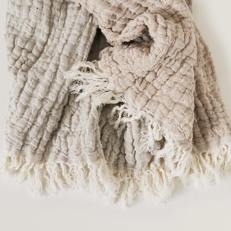 garbo&friends / Lin Tawny Blanket 綿麻ブランケット(M)・ベージュ