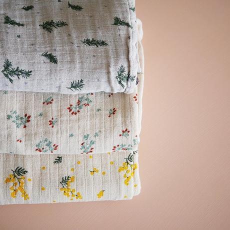 garbo&friends  *  Rosemary * Muslin Swaddle Blanket おくるみブランケット・ローズマリー