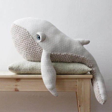 Big Stuffed //  Big Albino Whale