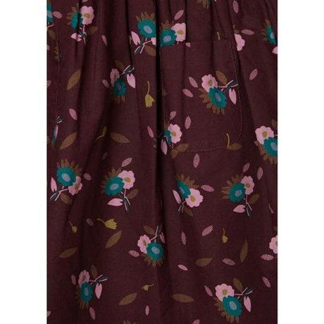 CARAMEL / JUPITER DRESS・BROWN THISTLE PRINT