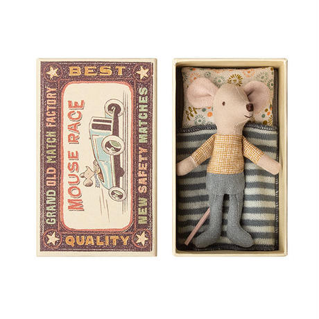 Maileg   Little brother  mouse in box  おとうとネズミ