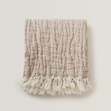 garbo&friends * Mellow Tawny Blanket * S 綿麻ブランケット・ピンク