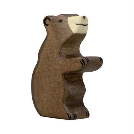 Holztiger / Brown bear, small, sitting