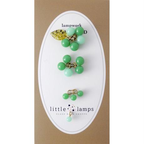 Dangling Grapes Set /Quilt leaf (col.モス,ミント)