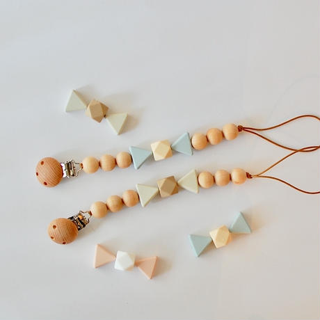 Pacifier Clip(Caramel & Candy)
