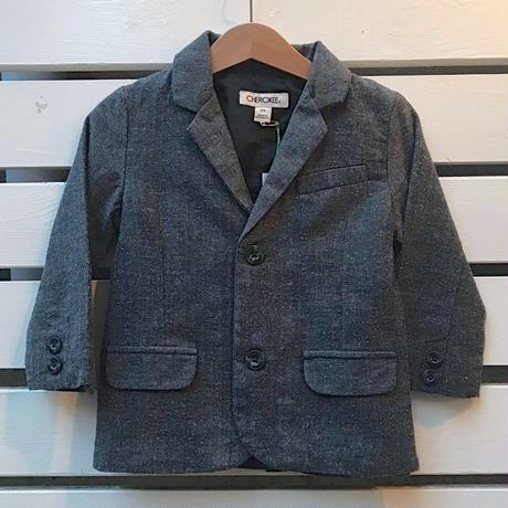 450.【USED】Gray Tweed formal jacket