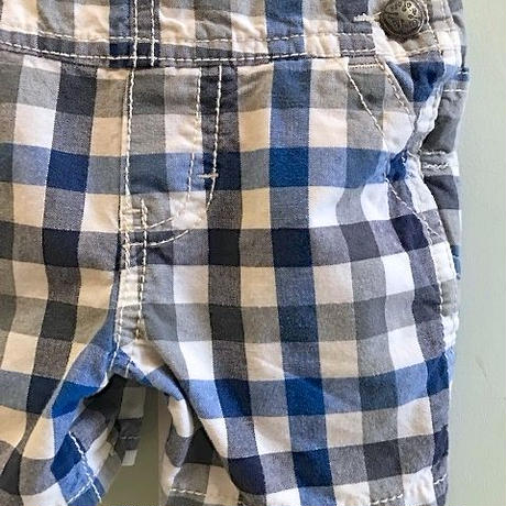 581.【USED】Blue Check Overall