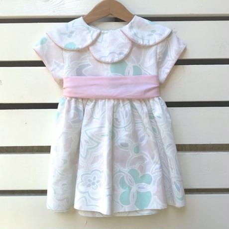 41.【USED】Pale color flower Dress( Made  in U.S.A.)