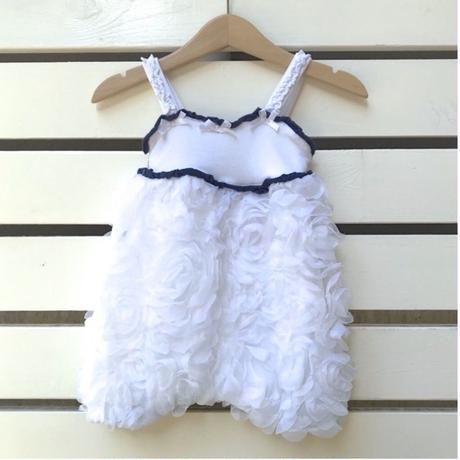 40.【USED】White tulle Rompers