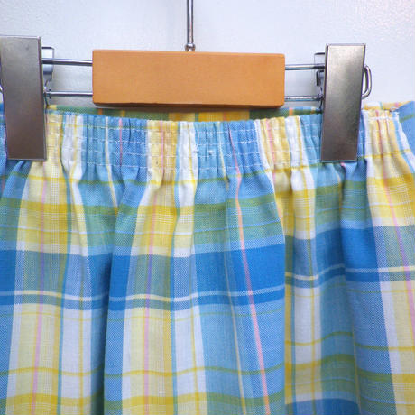 167.【USED】VINTAGE Pastel Check Skirt
