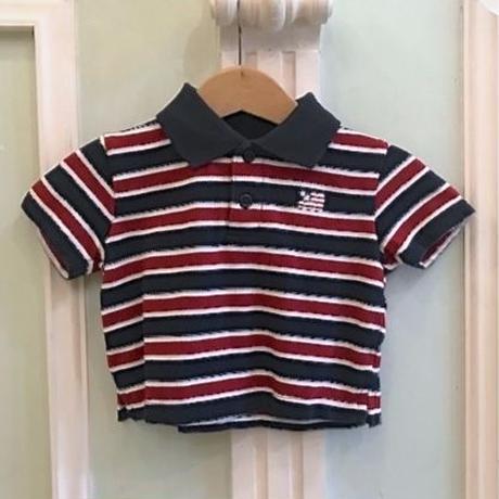 607.【USED】U.S.A Border  Polo shirt