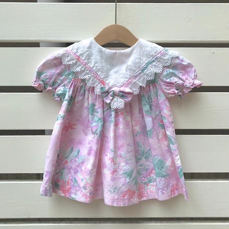 54.【USED】Pink flower ribbon Dress