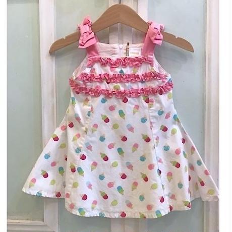 616.【USED】Happy Ice cream Frill Dress