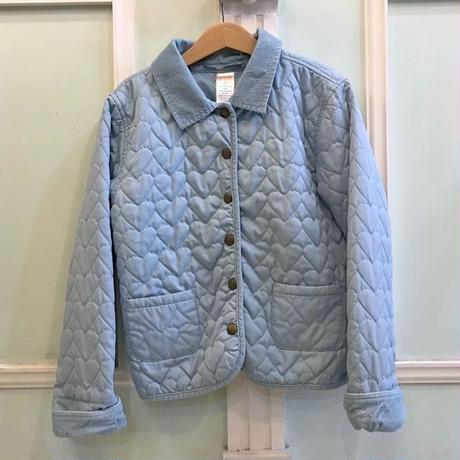 382.【USED】IceBlue Heart Quilting Jacket