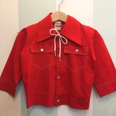 90.【USED】Vintage Fake Red Double pocket Jacket