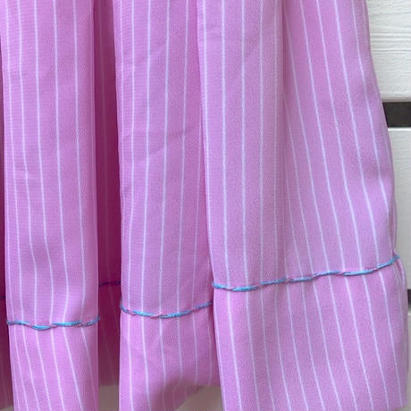 33.【USED】Pink puff sleeve Dress