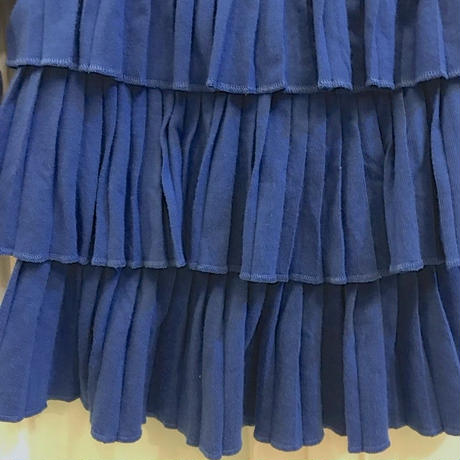 370.【USED】Blue Frill Tops