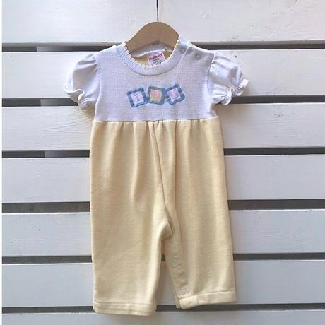 511.【USED】Yellow  I♡U Rompers(made in U.S.A)