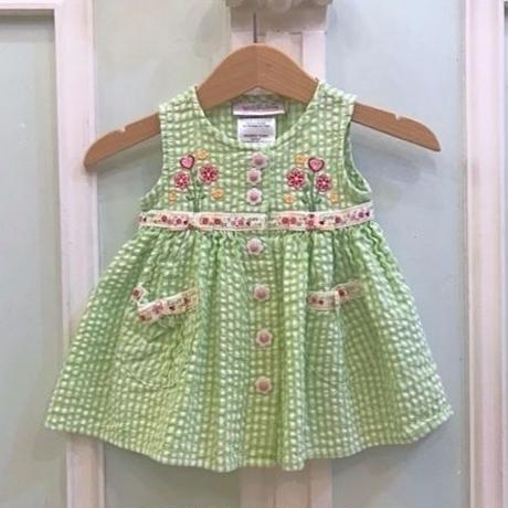 642.【USED】Lovely Flower Green Dress