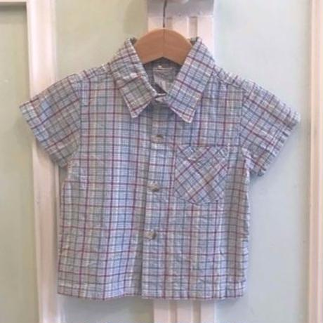 627.【USED】Colorful Blue Check  Shirts