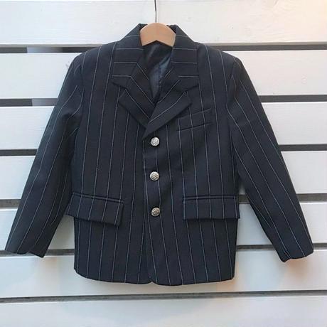 446.【USED】Black Stripe  formal jacket
